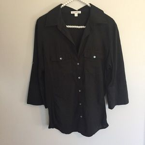 James Perse Black Button Down Shirt
